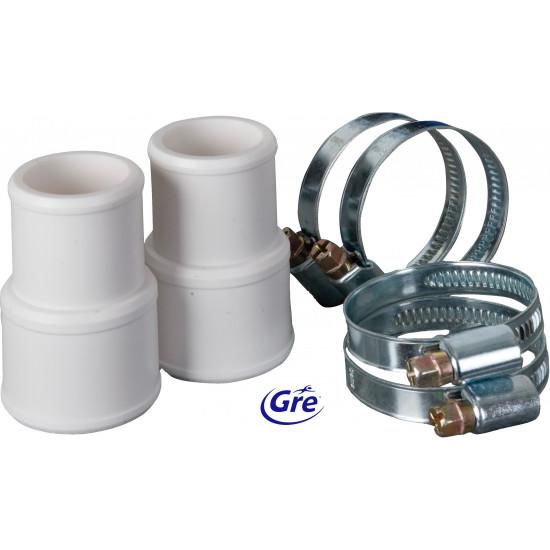 Kit de connexion de tuyau: 2 manchons de raccordement + 4 colliers Ø 32 et 38 mm